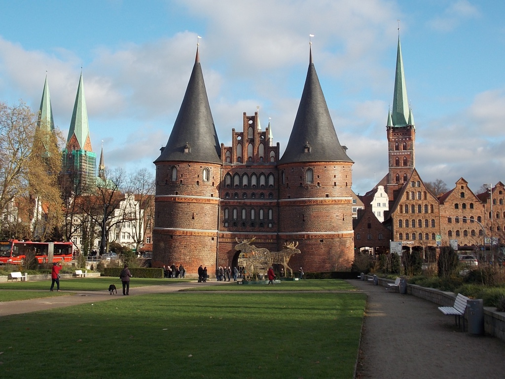 Lübeck Weihnachten 2019 Holstentor