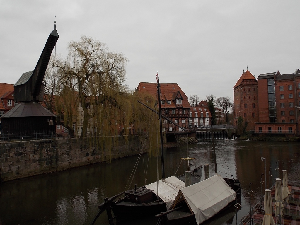 Lüneburg Alter Kran im Lüneburger Hafen
