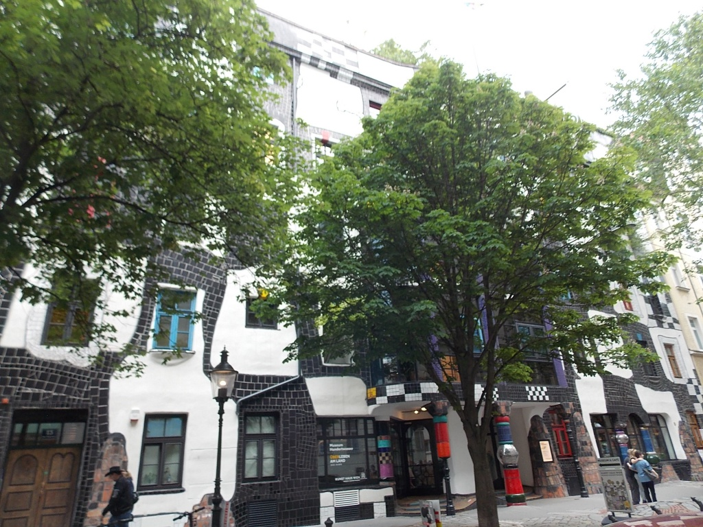 Wien KUNST HAUS WIEN ein Gebäude welches von Friedensreich Hundertwasser gestaltet wurde.