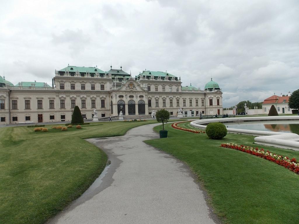 Wien Oberes Belvedere mit Garten