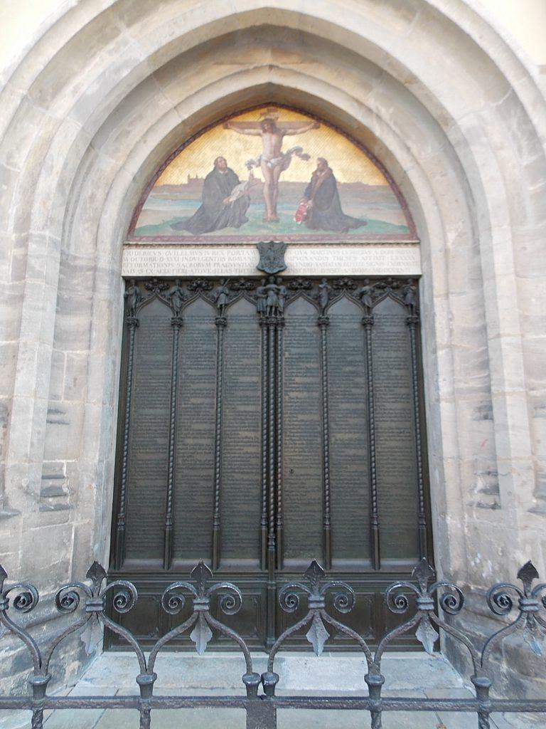 Lutherstadt Wittenberg Schlosskirche mit Thesentür