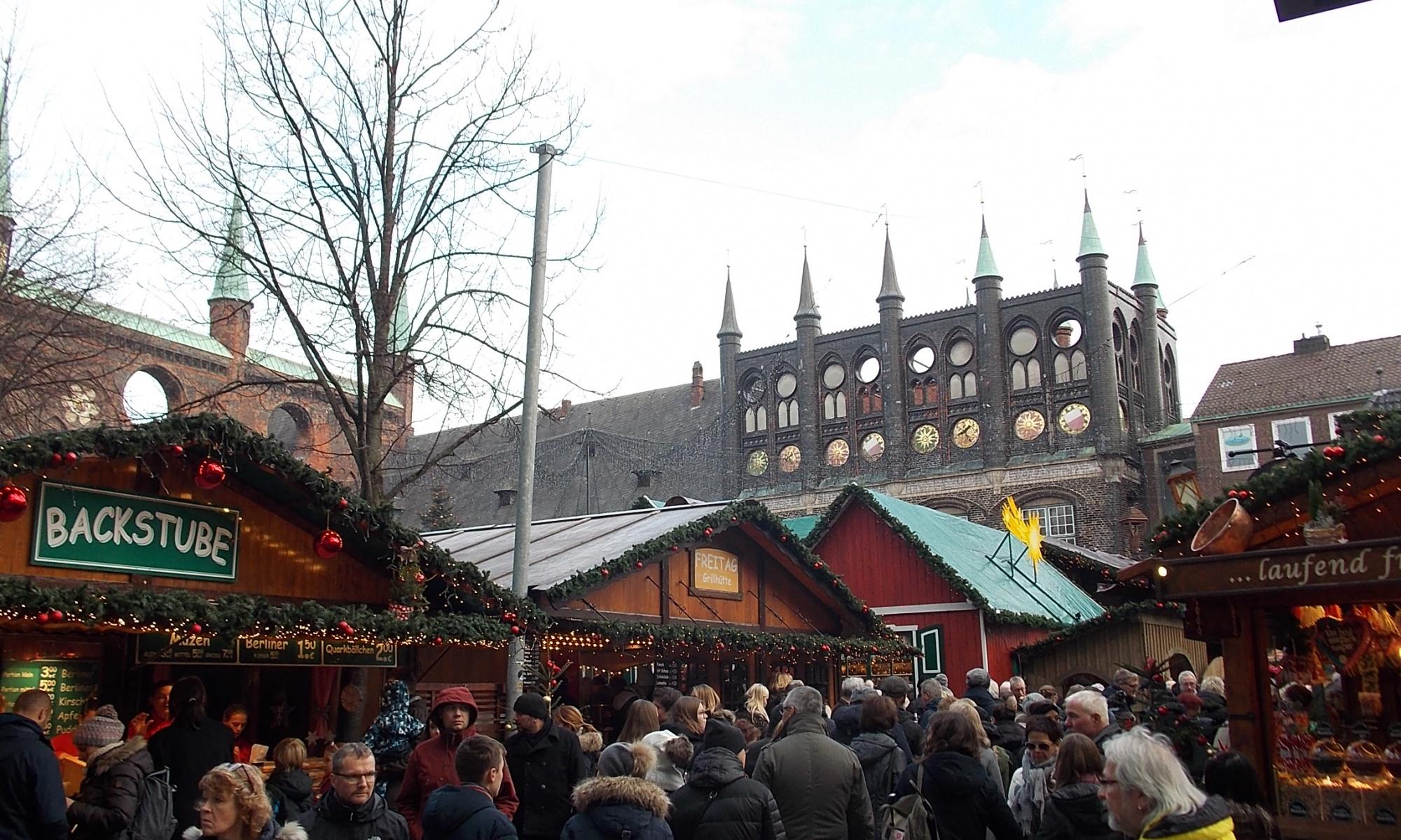 Lübeck Markt 2018 Weihnachtsmarkt
