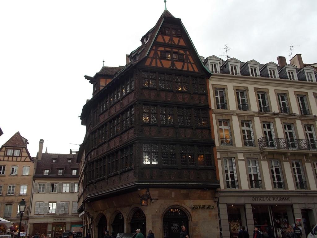 Elsass Straßburg Strassburg Place de la Cathédrale