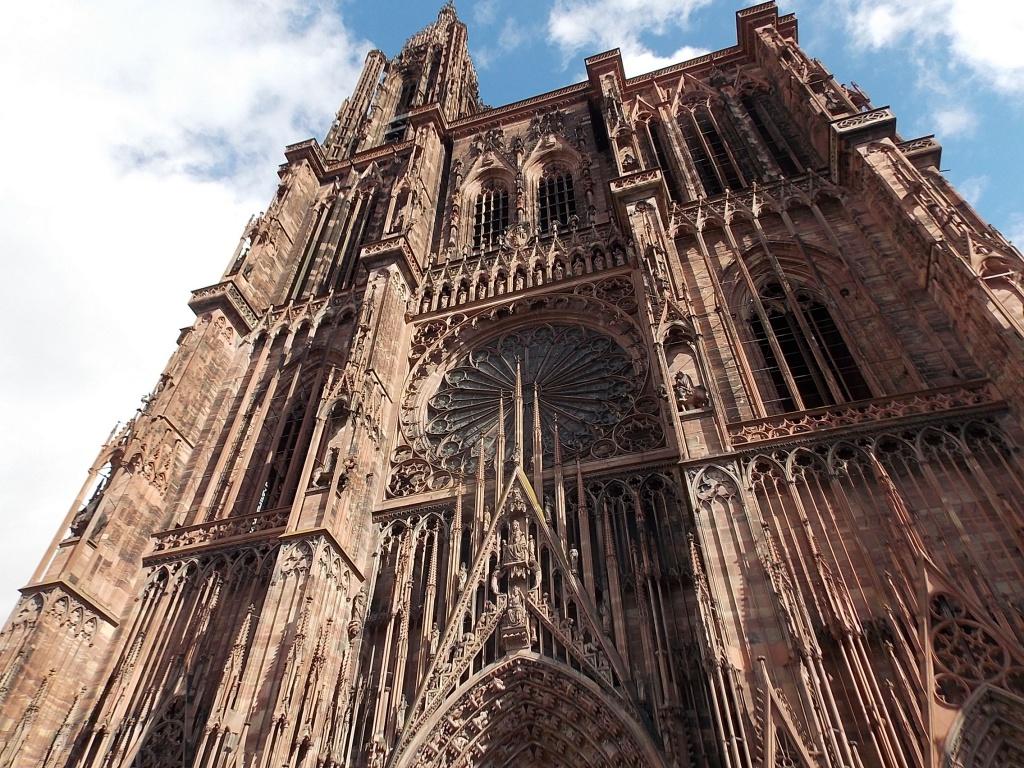 Elsass Alsace Straßburg Cathédrale Notre Dame de Strasbourg