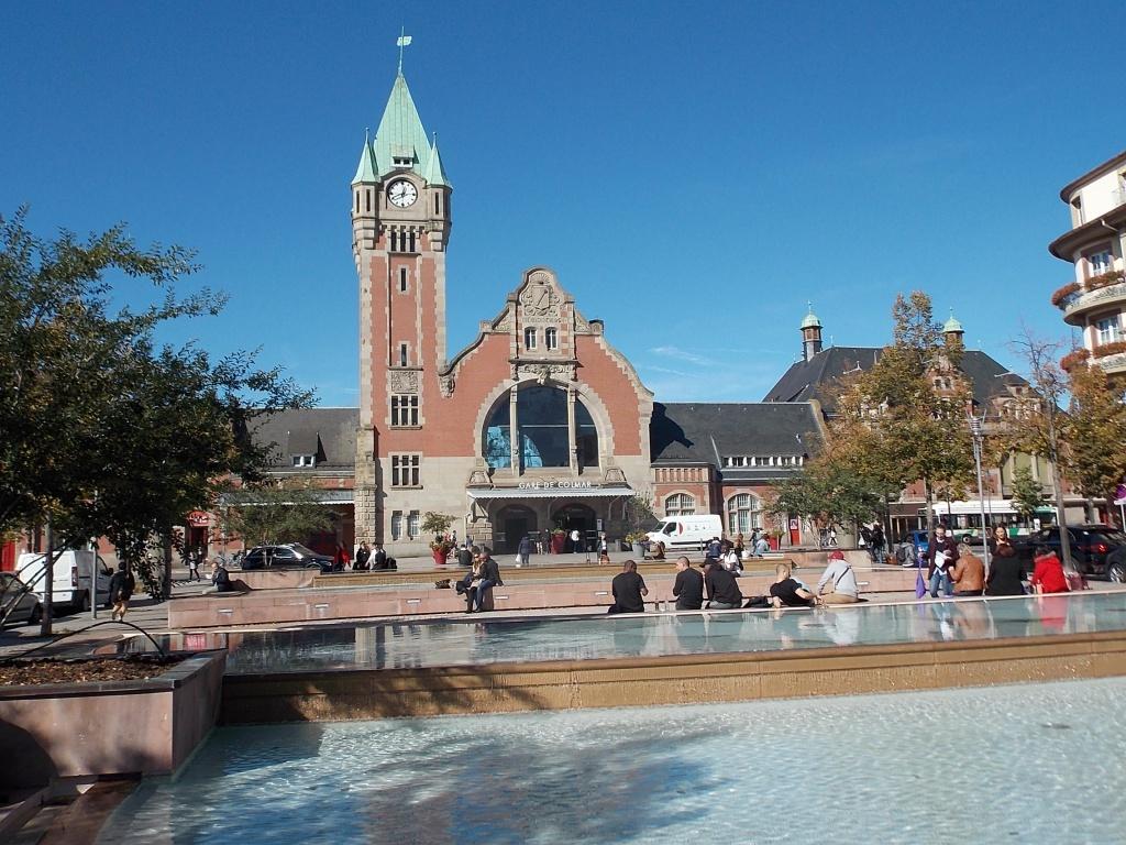 Elsass Alsace Colmar Gare de Colmar Bahnhof