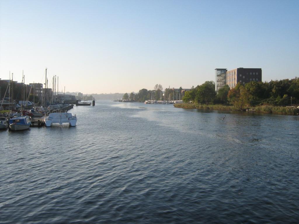 Mündung der Schwentine in die Kieler Förde bzw. Ostsee.