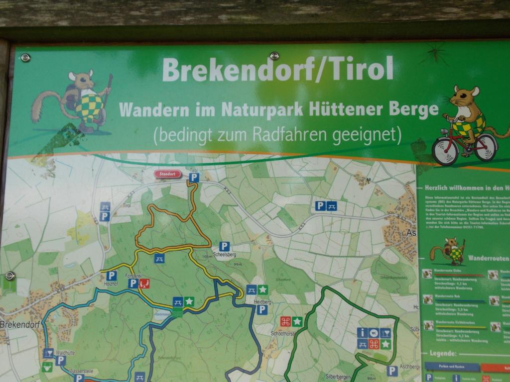 Wanderweg 7 Brekendorfer Forst Wanderkarte Parkplatz Tirol