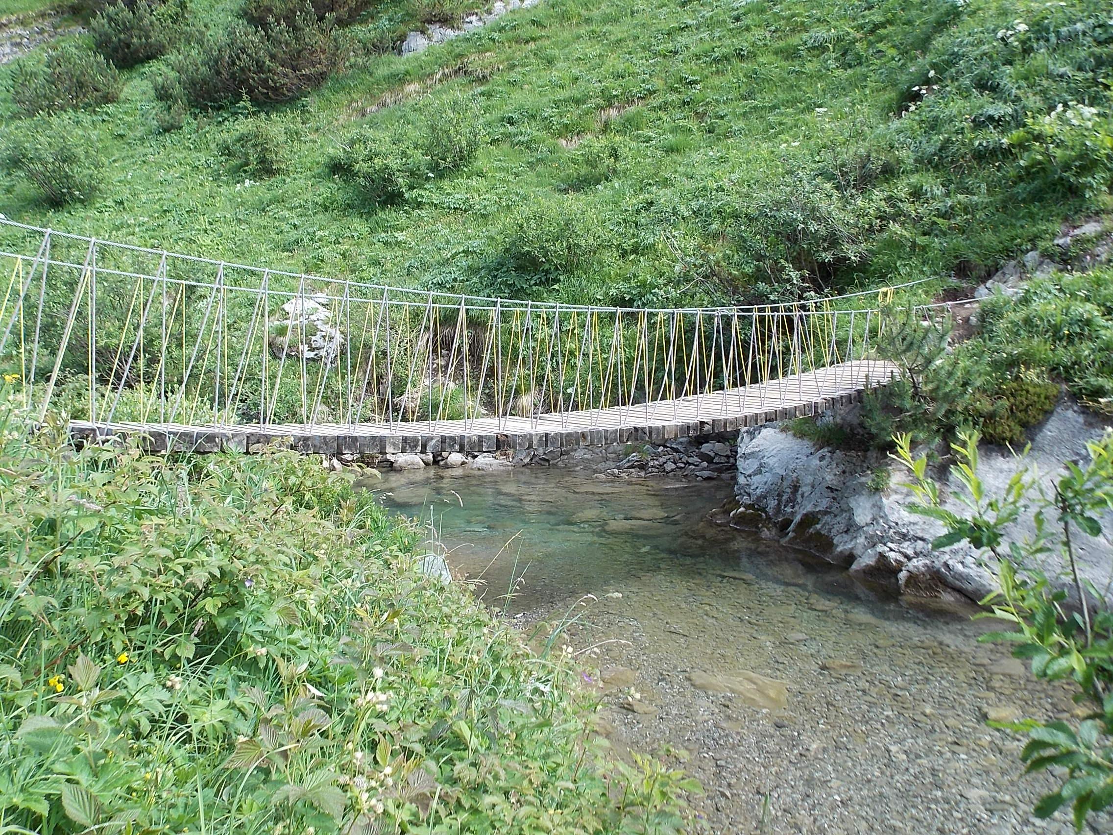 Hängebrücke über Krumbach Warth Lechweg 3