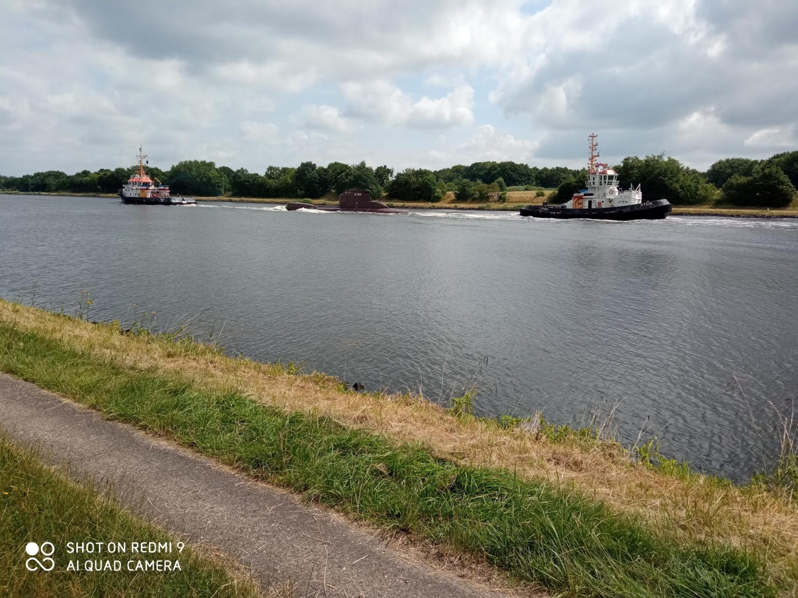 U-Boot Nord-Ostsee-Kanal Rendsburg Breiholz
